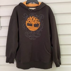 Timberland Black Pullover Hoodie with Logo Sz LG